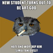 New student turns out to be art God