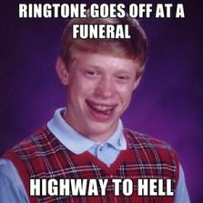 Ringtone goes off at a funeral