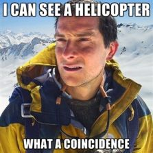 I can see a helicopter