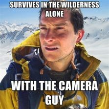 Survives in the wilderness alone