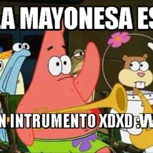 la mayonesa es un intrumento xdxd :vvv