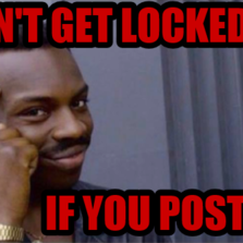 Can't get locked up If you post bail