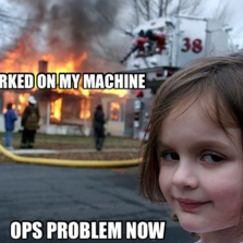 worked on my machine ops problem now