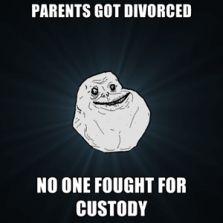Parents got divorced