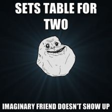 Sets table for two