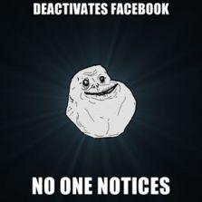 Deactivates Facebook