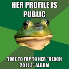 Profile is public