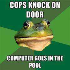 Cops knock on door
