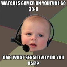 What sensitivity do you use