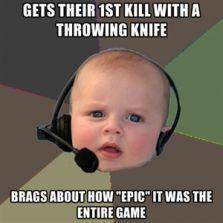 1st throwing knife kill