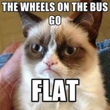 Wheels on the bus go
