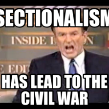 Sectionalism has lead to the civil war