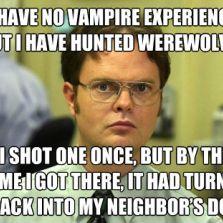 No vampire experience