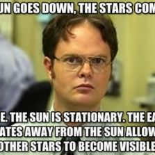 Sun goes down, stars come out
