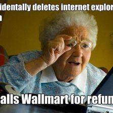 Deletes Internet Explorer icon