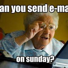E-mails on Sundays