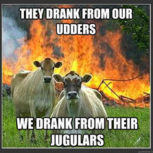 Drank from our udders