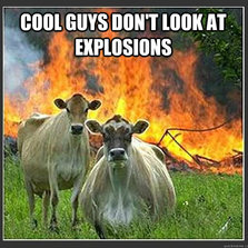Don't look at explosions