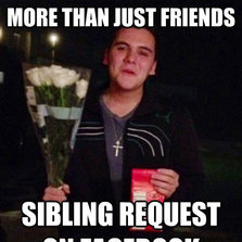 Sibling request on Facebook