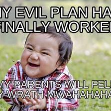 Evil Plotting Baby Meme
