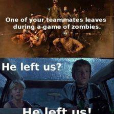 He left us