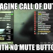 Call of Duty with no mute button