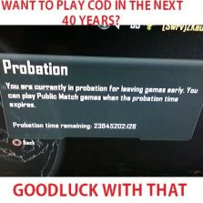 Call of Duty probation