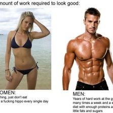Amount of work to look good
