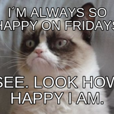 I´m always so happy on fridays see. Look how happy I am.