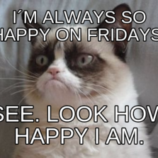 I´m always so happy on Fridays. See. Look how happy I am.