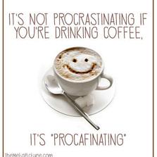It's not procrastinating