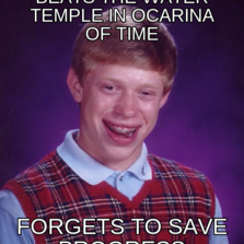 Beats the Water Temple in Ocarina of time Forgets to save progress