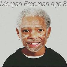 Morgan Freeman age 8