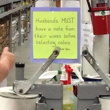 Sign in the paint store
