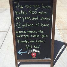 The average human walks...