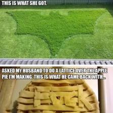 Asked my husband...