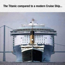 The Titanic Compared To A Modern Cruise Ship  Memes