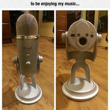 I love my new microphone
