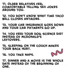 25 ways to tell you're grown up