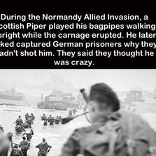 During the Normandy invasion...