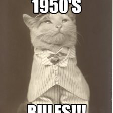 1950's rules!!!