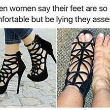Uncomfortable shoes...