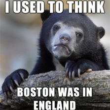 Used to think Boston was...