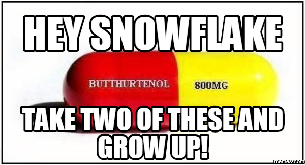hey snowflake take two of these and grow up!